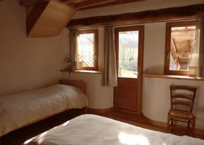 Chambre double écologique à louer dans centre de bien-être en Haute-Garonne