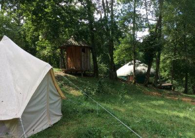 Camping en tente lodge pour unséjour bien-être à Manaska Haute Garonne