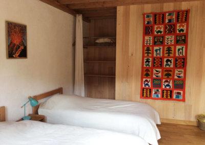 Hébergement éco nature en chambre double à à Manaska Montbrun-Bocage Haute Garonne