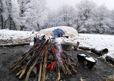 Hutte de sudation à Manaska à 1h de Toulouse hiver 2021