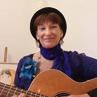 Portrait de Pascale Gueillet, musicienne.